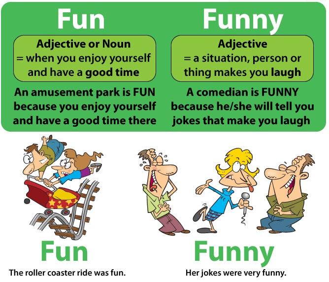 Funny กับ Fun คำศัพท์ใช้ผิดบ่อย