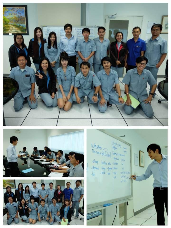 สอนภาษาอังกฤษที่บริษัทในนิคม